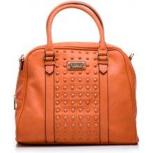 Decentně zdobená oranžová kabelka
