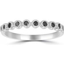 bce055be0 Eppi Zlatý eternity prsteň s čiernymi diamantmi Glenn R223713