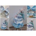 Darčeky-Bambi Plienková torta modrá spinkáčik