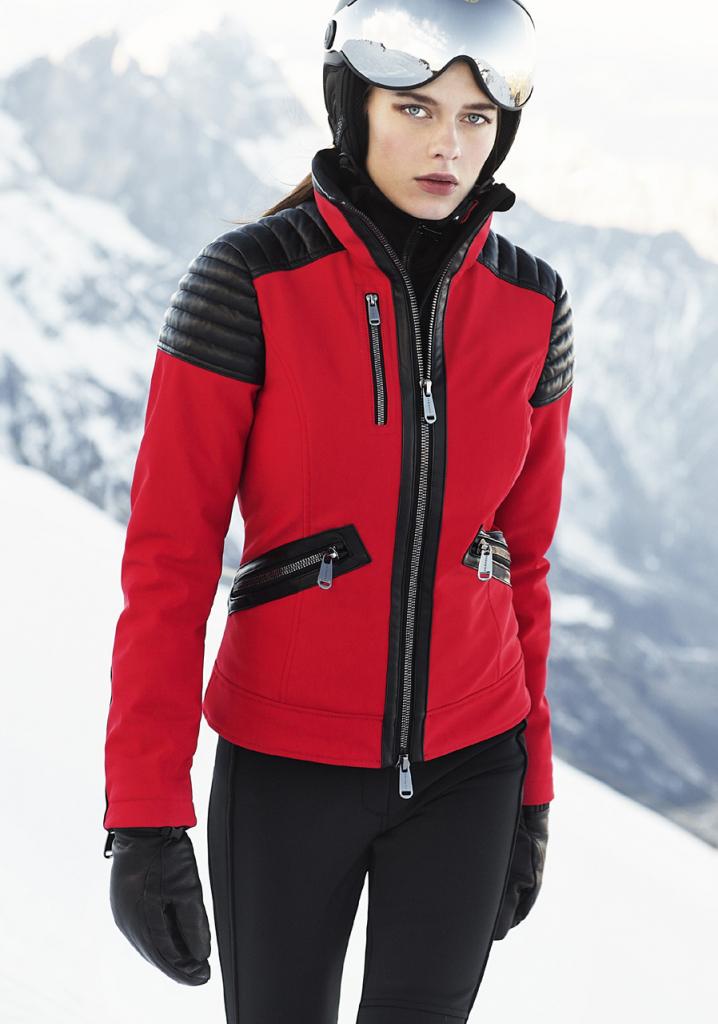 Dámska bunda a kabát Goldbergh 1610173 LEONIE JACKET RED Dámská ... 2a90464f269