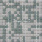 MOSAGRES MSB35 Pressglass Mozaika - sklo, 327x327x4mm, mix bílá a šedá