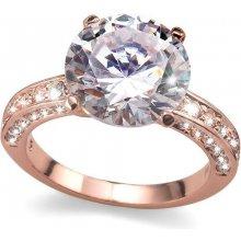 Prsteň s krištáľmi Swarovski Oliver Weber Princess Rosegold 41065RG 51f876fae0e