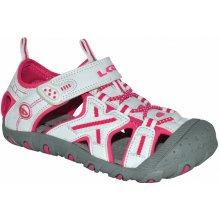 LOAP Dievčenské sandále Allen bielo-ružové