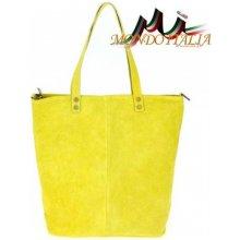 Made In Italy kožená kabelka v úprave semiš 768 žltá 14374d60fb4
