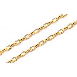 1b7536972 Zlatá pánska retiazka Cable chain kombinovaná IZ8014 alternatívy ...