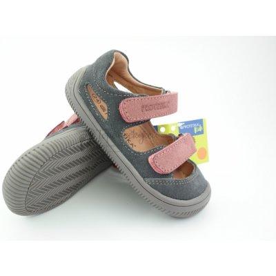 Protetika Detské letné barefoot topánky Berg Grigio