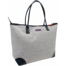 Kangol Straw Beach Bag dámské Navy Stripe N