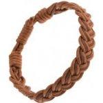 67a9776db Šperky eshop šnúrkový náramok hnedej pletený vzor písmena