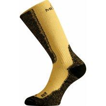 70b0ae7955e Lasting WSM 640 hořčicová merino ponožky