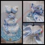 Darčeky-Bambi Plienková torta trojposchodová modrá