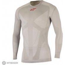 4633b8325fe3 Alpinestars Tech Top LS pánske funkčné tričko dlhý rukáv strieborné červené