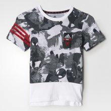 Adidas Chlapčenské tričko Spiderman - čierno-biele
