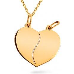4e65658a6 iZlato Design Zlatý prívesok srdce pre dvoch IZ9029 alternatívy ...
