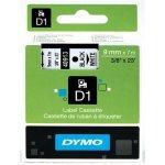 DYMO páska D1 9mm x 7m, čierna na bielej 40913