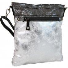 elegantná malá dámska crossbody kabelka 16174 sivo-strieborná 97db1ac8b9b
