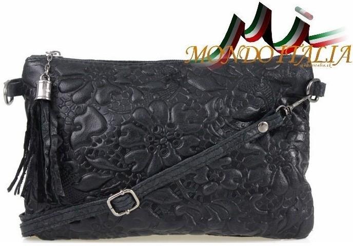 7caa685fce Kabelka Made In Italy kožená kabelka 51 čierna - Zoznamtovaru.sk