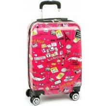 Snowball 86820G kvalitný cestovný kufor malý 36x23x56 cm Růžová