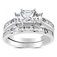 Dvojitý prsteň zo striebra so Swarovski Zirconia SHZR0127 a1bd504bd91