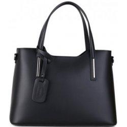 910c283c2f talianske luxusné kožené kabelky na plece Carina stredné čierne od ...