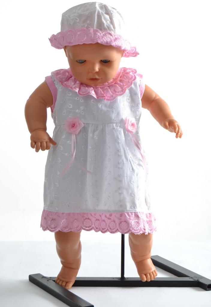 3ced80ee9 Baby madeirové šaty+klobúčik biele s ružovou - Zoznamtovaru.sk