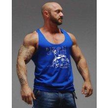 Bizon Gym pánské tílko boxerské z bavlny modré