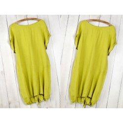 04ec183b868a Fashionweek Nádherné módne letné ľanové-bavlnené šaty BOHO ITALY OVERSIZE  MD9   785 Farba