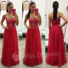 429d82f5e26d Spoločenské šaty s kamienkami červená