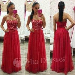 8511f0db5110 Spoločenské šaty s kamienkami červená od 65