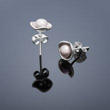 Náušnice vpichovacie perlové Lotus mini ružová 235