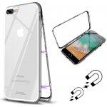 Púzdro FORCELL Ochranné magnetické Apple iPhone 7 Plus / iPhone 8 Plus strieborné