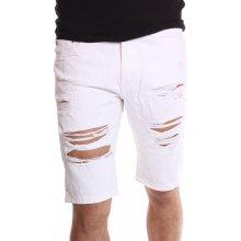 Pánske krátke nohavice M.SARA KR893-12 biele