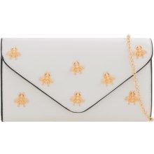 ff5d1e100b dámska listová kabelka so zlatým vzorom múch K-T2260 biela