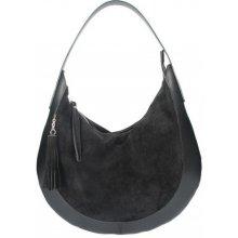 4bbeaa3d01 Made In Italy kožená kabelka na rameno 5077 čierna