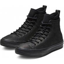 Converse čierne kožené pánske tenisky Chuck Taylor All Star Hi Black 6a06e634639