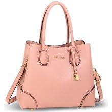 2c55d286a4cd Anna Grace kabelka elegantná do ruky s doplnkami ružová