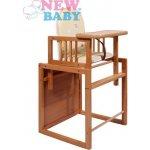 New Baby Victory přírodní10585 jedálenská stolička