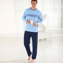 Blancheporte pánské pyžamo dlouhé modré