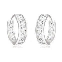 Šperky eshop náušnice z bieleho zlata okrúhle vsadené číre zirkóny GG12.33 b6d6b01be5d