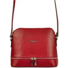 7ae847445 Patrizia Piu kožená malá dámska crossbody kabelka červená