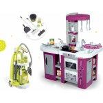 Smoby set kuchynka Tefal Studio XL a upratovací vozík Clean 311005-19