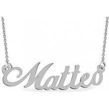 iZlato Zlatá biela retiazka s menom Matteo Design IZ9072A 37c923daf52