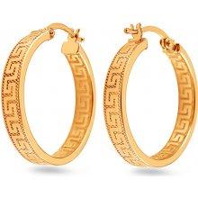 iZlato Design zlaté náušnice antické kruhy IZ5114 e96ff16213b