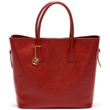 Carla Ferreri Elegantná kožená business kabelka 429 Rosso