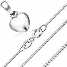69e90c310 Šperky eshop Náhrdelník súmerné srdce zo zatočených očiek, striebro 925  S63.01