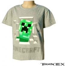 Tričko detské Minecraft šedé
