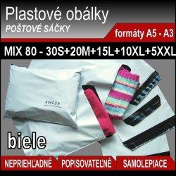 Mix 80 ks plastových obálok v 5 veľkostiach