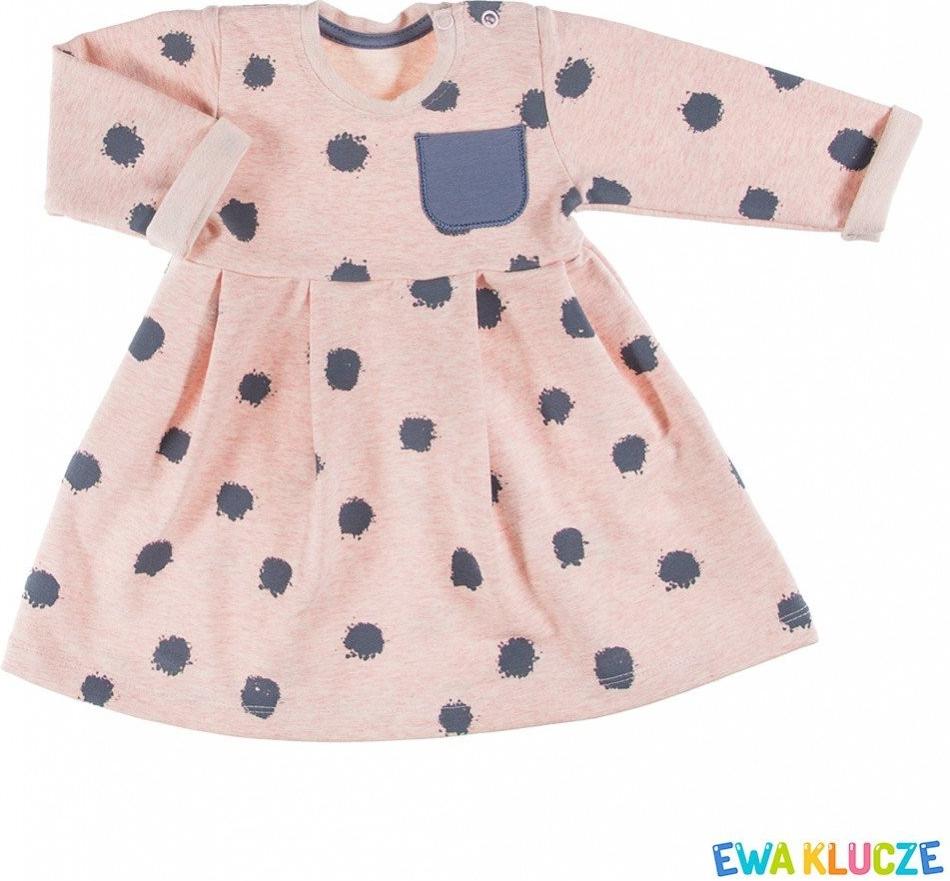 419a54a1f14f Dojčenské šatôčky a sukňa Ewa Klucze Dievčenské šaty Emu - ružovo ...