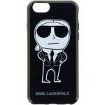 Púzdro Karl Lagerfeld TPU K-Team iPhone 6/6S čierne