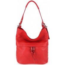 Made In Italy kožená kabelka na rameno 715 červená 4dd677d8f04