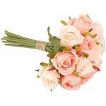 Dakls Umelá kytica ruží, svetloružová